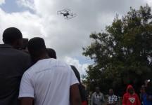 Practical demonstration on UAV remote controlling