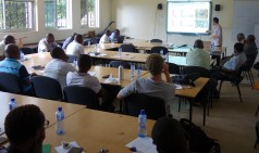 Participants listening to Prof. Jan C. Habels talk on ecology