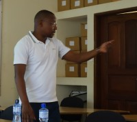 Prof. Shauri moderating the whole workshop